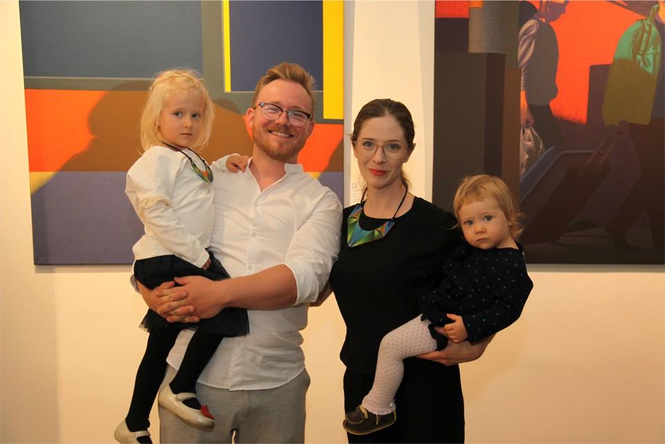 Dariusz Milczarek z żoną i dziećmi