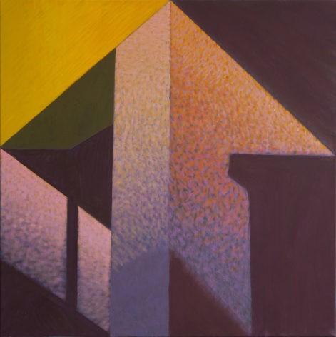 """Obraz """"Geometria światła II"""", abstrakcyjne cienie na ścianie, z cyklu """"międzyprzestrzeń"""", abstrakcja geometryczna"""
