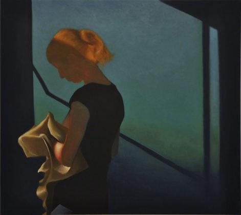 """Obraz """"Pani K"""", z cyklu """"światłoczułe"""", sylwetka kobiety, obraz figuratywny, portret"""