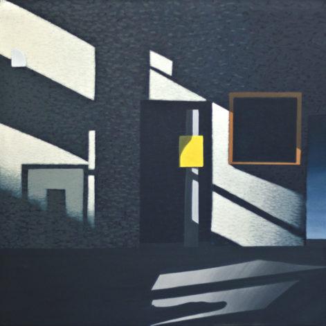 """Obraz """"Wnętrze II"""" z cyklu """"międzyprzestrzeń"""", abstrakcyjne cienie na ścianie"""