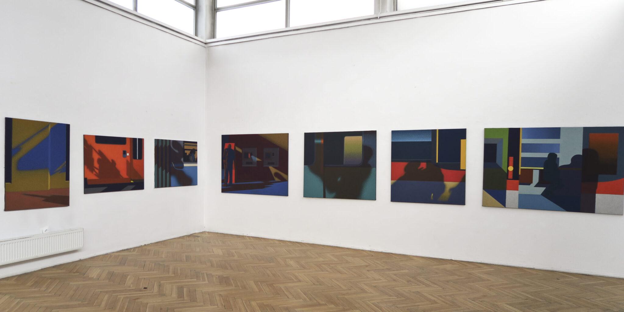 """Obrazy wykonane w ramach stypendium """"Międzyprzestrzeń"""""""