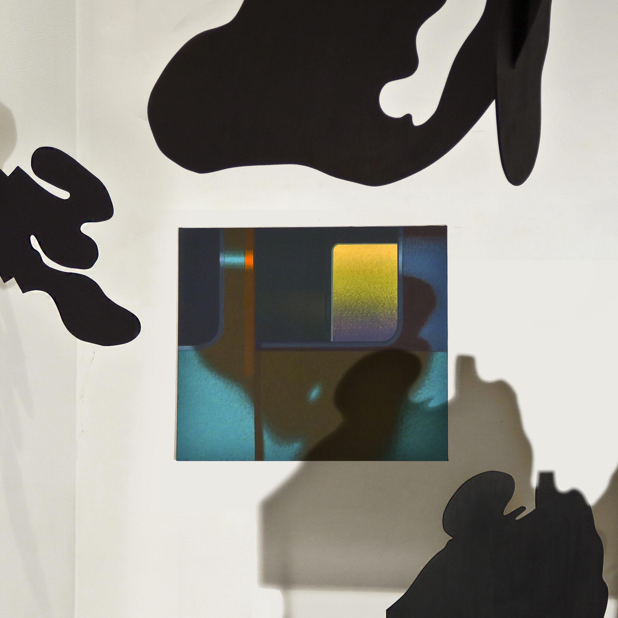 """Obraz """"Cień II"""" i obiekty wykonane w ramach stypendium """"Międzyprzestrzeń"""""""