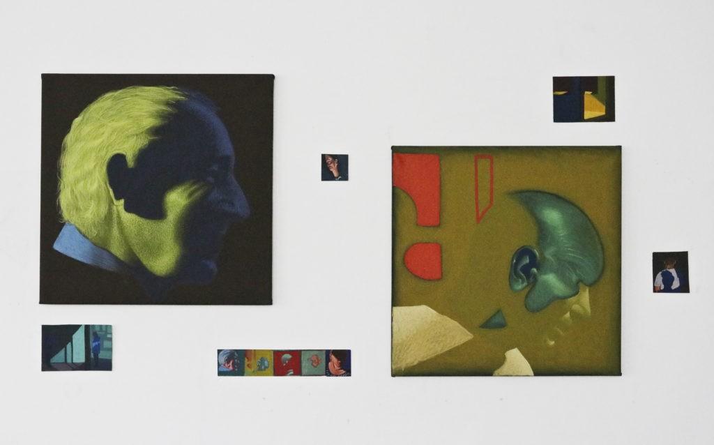 obrazy Dariusza Milczarka stworzone w trakcie rezydencji w Wiedniu