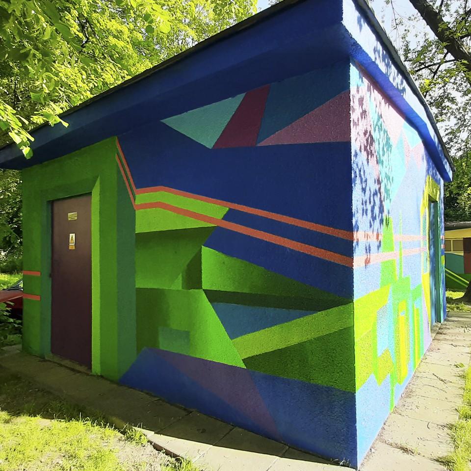 """Mural Dariusza Milczarka """"Tauron-nowa energia"""""""