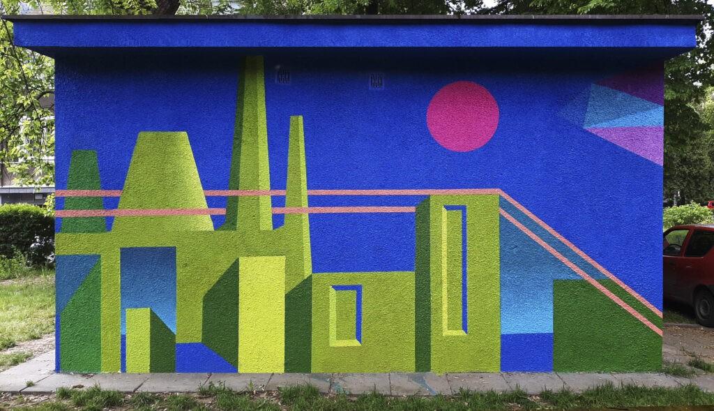 """Fragment muralu Dariusza Milczarka """"Tauron-nowa energia"""""""