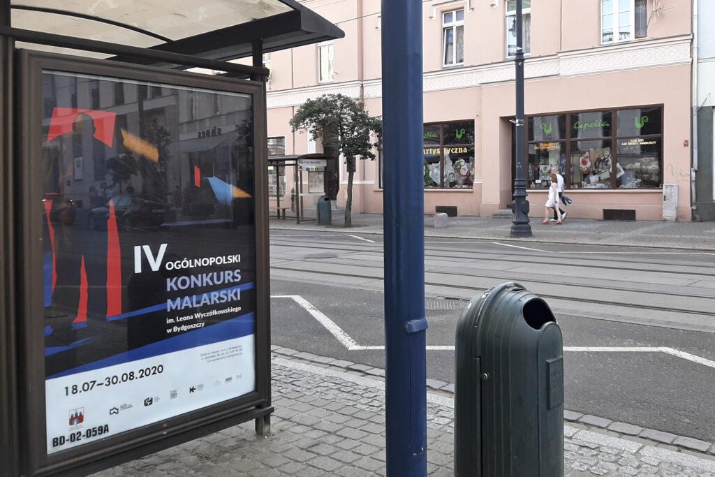 """Plakat z obrazem """"Cień I"""" wystawy pokonkursowej w Galerii Miejskiej BWA w Bydgoszczy"""
