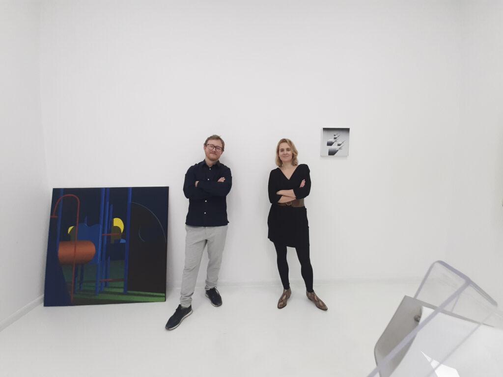 Dariusz Milczarek i Marta Kawiorska na inauguracji przestrzeni kreatywnej Kąt Kultury